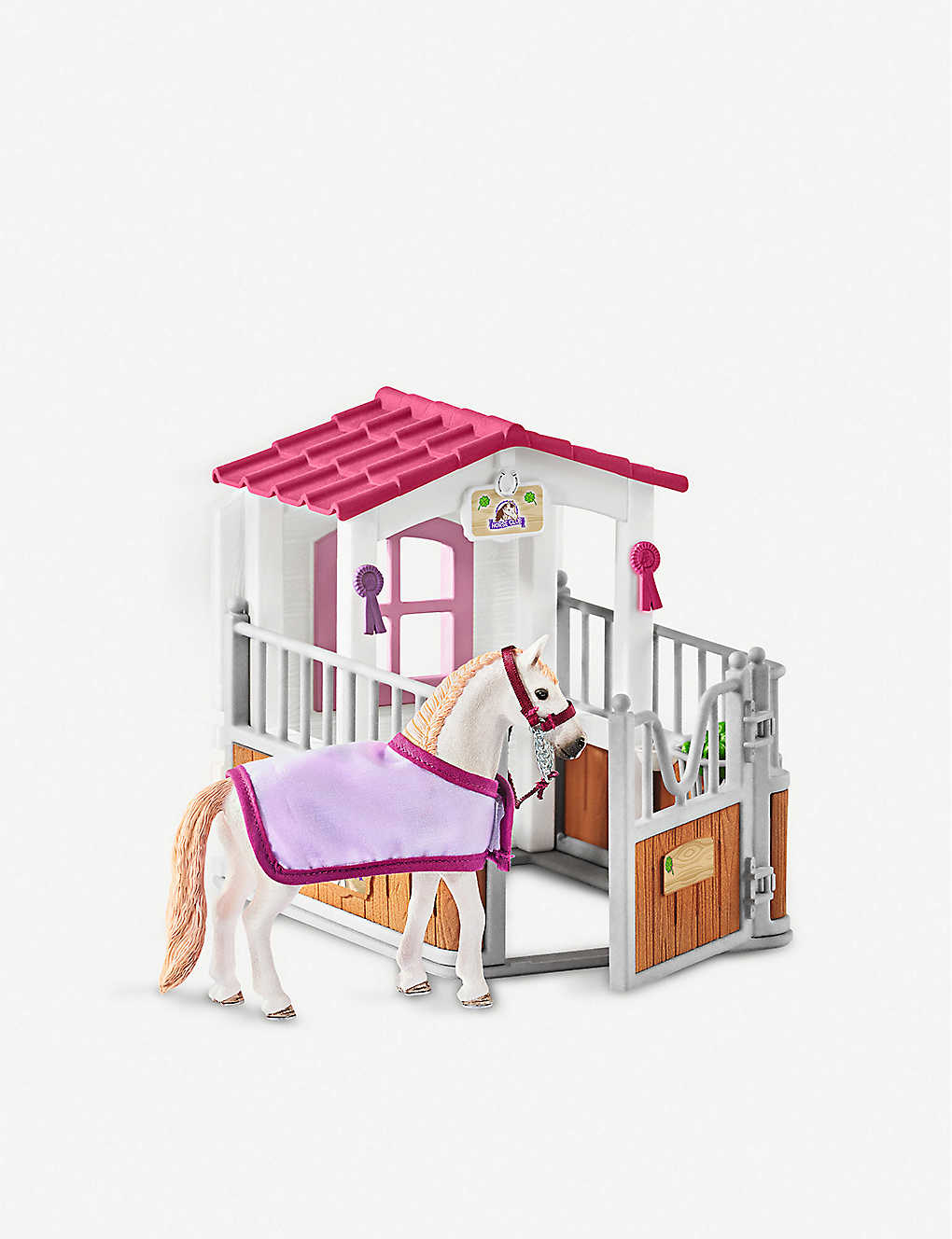 SCHLEICH: Horse Stall with Lusitano Mare figure set