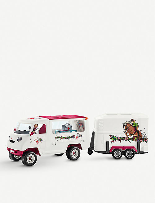 SCHLEICH Mobile vet with Hanoverian foal playset