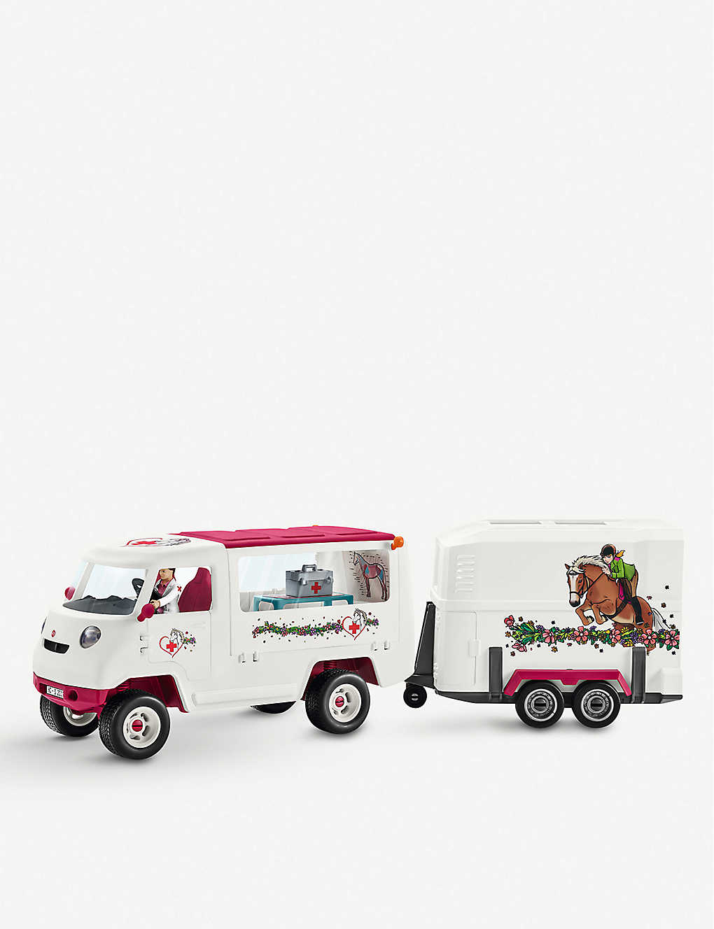 SCHLEICH: Mobile vet with Hanoverian foal playset