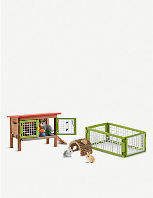SCHLEICH: Rabbit hutch playset