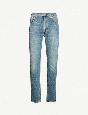 NUDIE JEANS Lean Dean faded slim-fit straight jeans