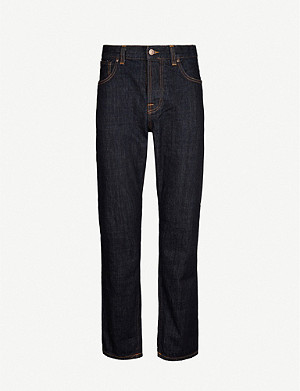 NUDIE JEANS Sleepy Sixten relaxed-fit straight jeans
