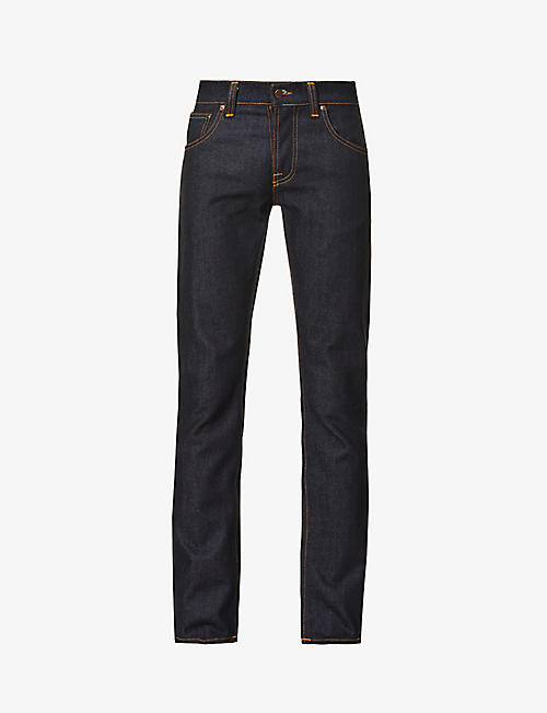 NUDIE JEANS: Grim Tim straight jeans