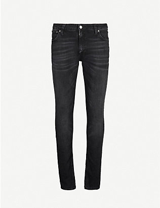 NUDIE JEANS: Skinny Lin faded slim jeans