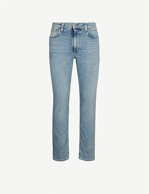 NUDIE JEANS Lean Dean faded regular-fit jeans