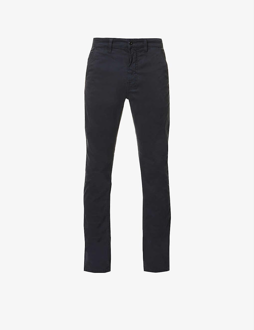 1b093b58bcc Slim Adam slim-fit tapered stretch-cotton chinos - Dk midnight ...