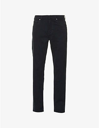 7 FOR ALL MANKIND: Standard Luxe Performance standard-fit straight jeans