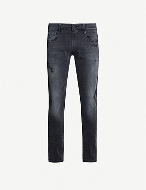 REPLAY Broken and Repaired skinny jeans