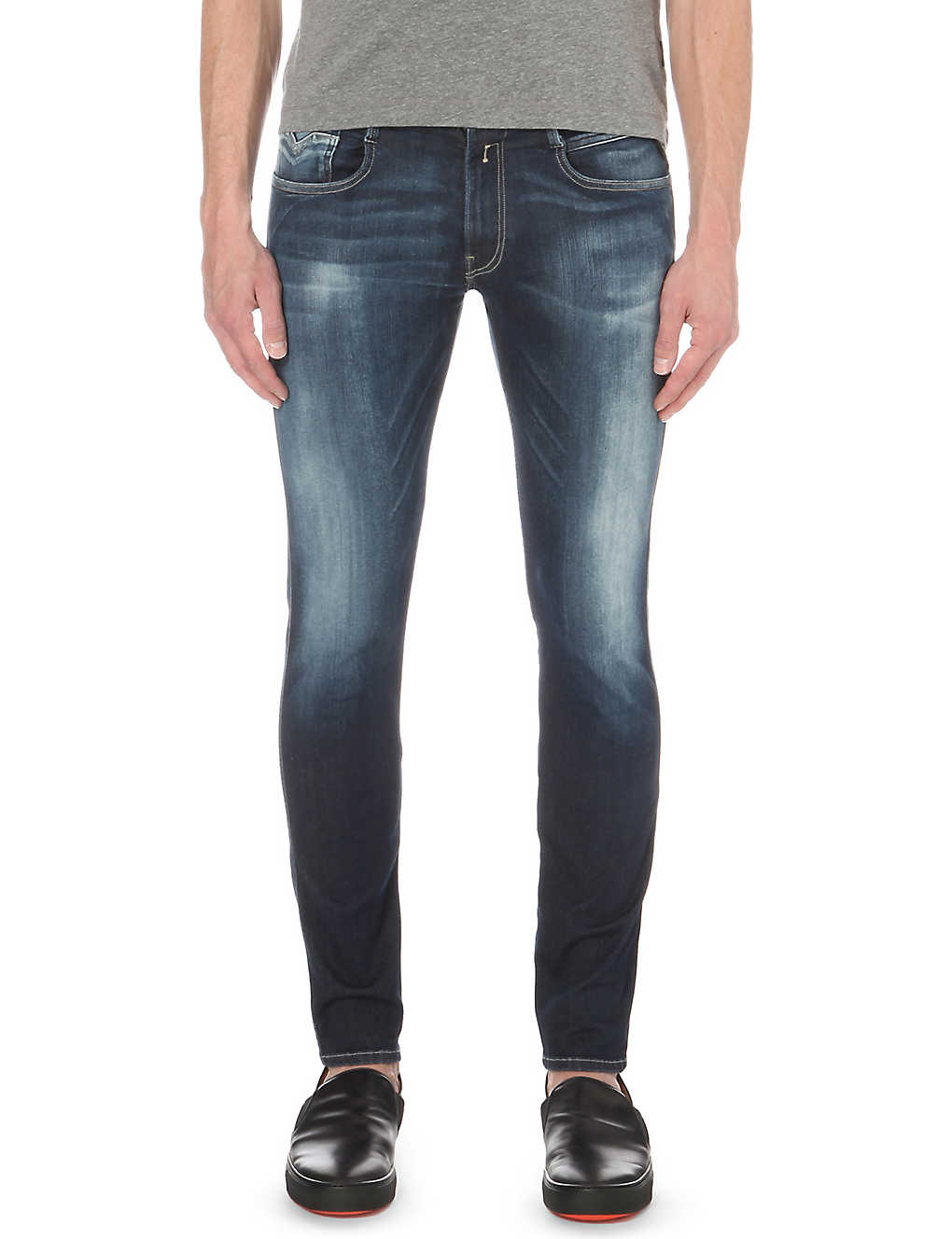4d5c64572ca REPLAY - Anbass Hyperflex slim-fit skinny jeans | Selfridges.com