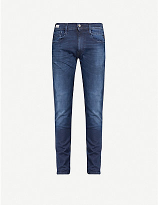 REPLAY: Anbass Hyperflex Clouds slim stretch-denim jeans