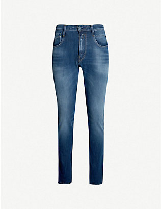 REPLAY: Anbass Hyperflex Plus slim stretch-denim jeans