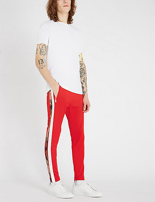 REPLAY Camouflage-stripe jersey jogging bottoms