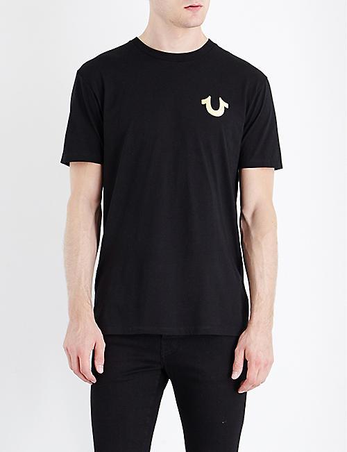 961993d7c3 TRUE RELIGION Metallic logo-print cotton-jersey T-shirt