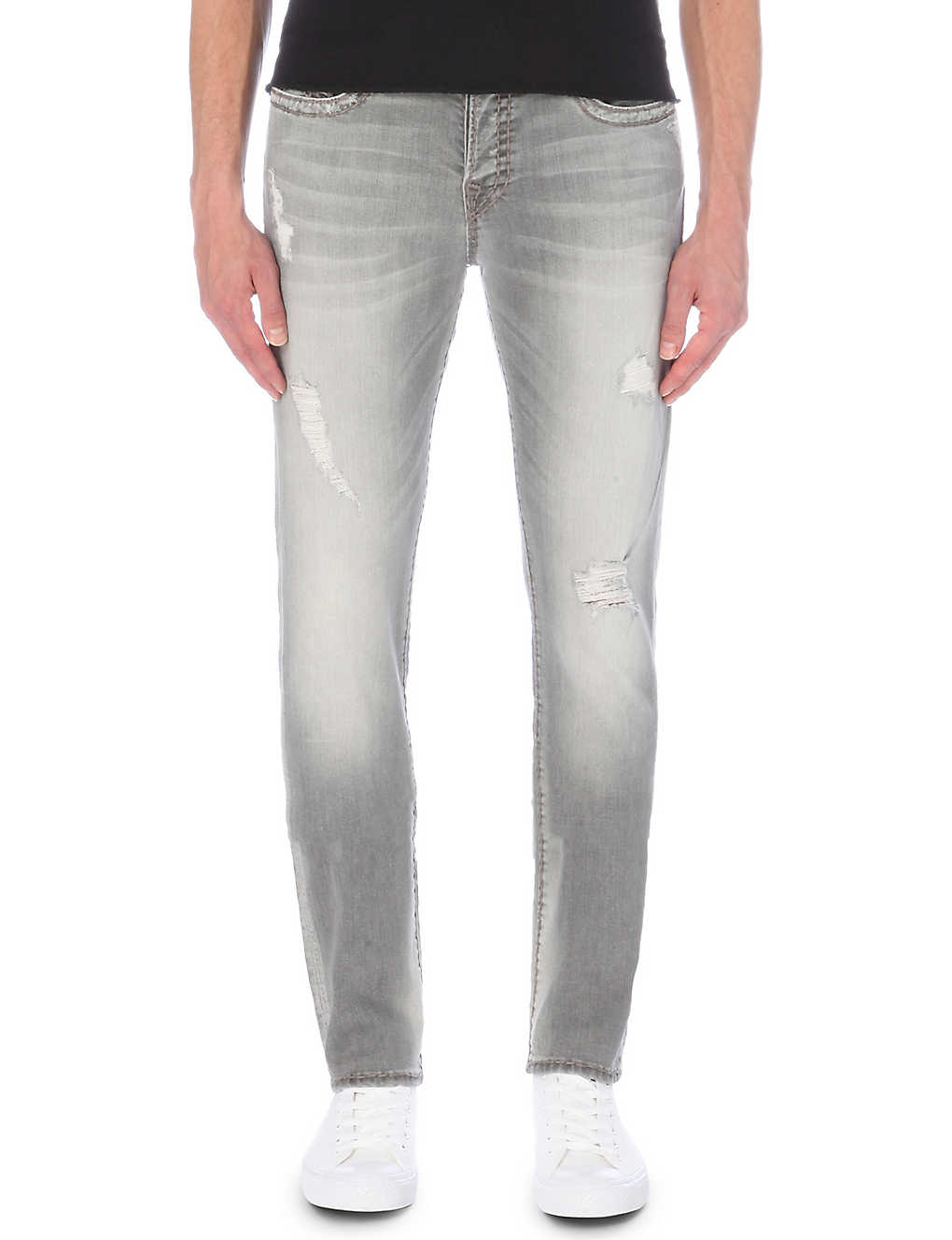 87d989d46 TRUE RELIGION - Rocco no flap slim-fit skinny jeans | Selfridges.com
