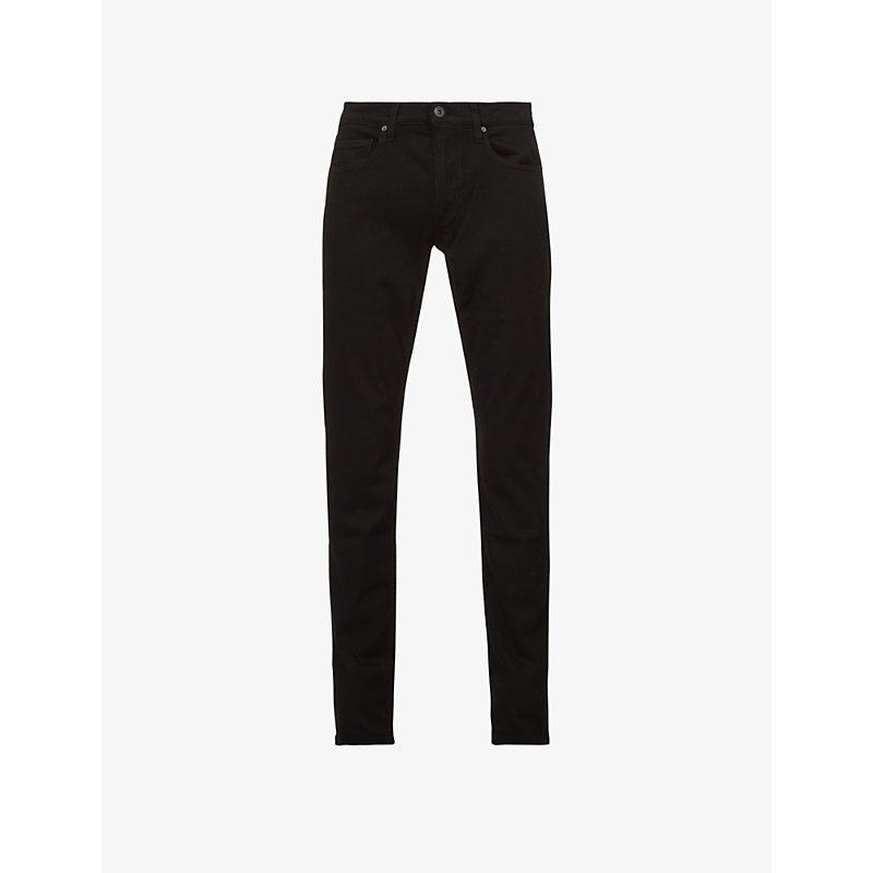 PAIGE | Paige Denim Lennox Skinny Mid-Rise Jeans, Mens 28, Black Shadow | Goxip