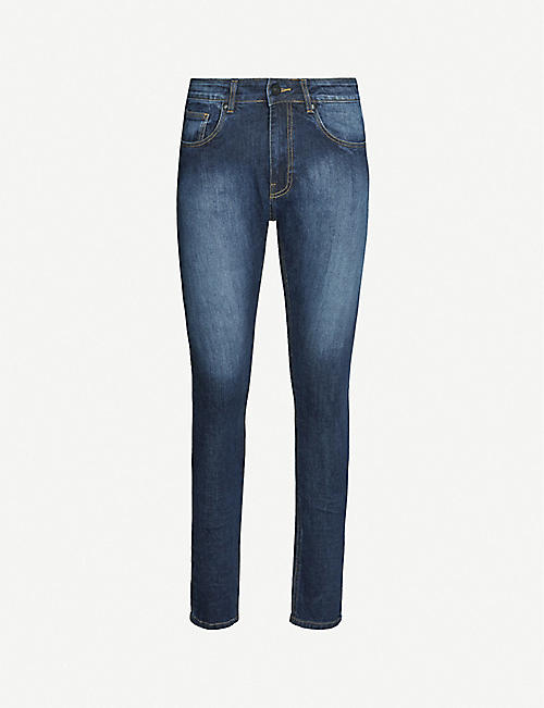 NO.91 Super Skinny faded jeans
