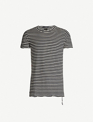 KSUBI Sinister striped cotton-jersey T-shirt