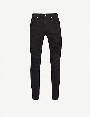 REPRESENT: Biker tapered jeans