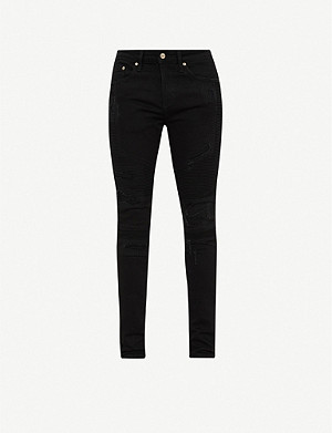 REPRESENT Biker ripped slim-fit jeans