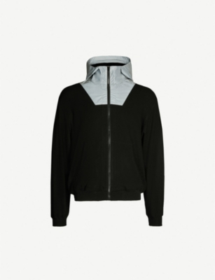 REPRESENT Two-tone jersey and shell hooded jacket
