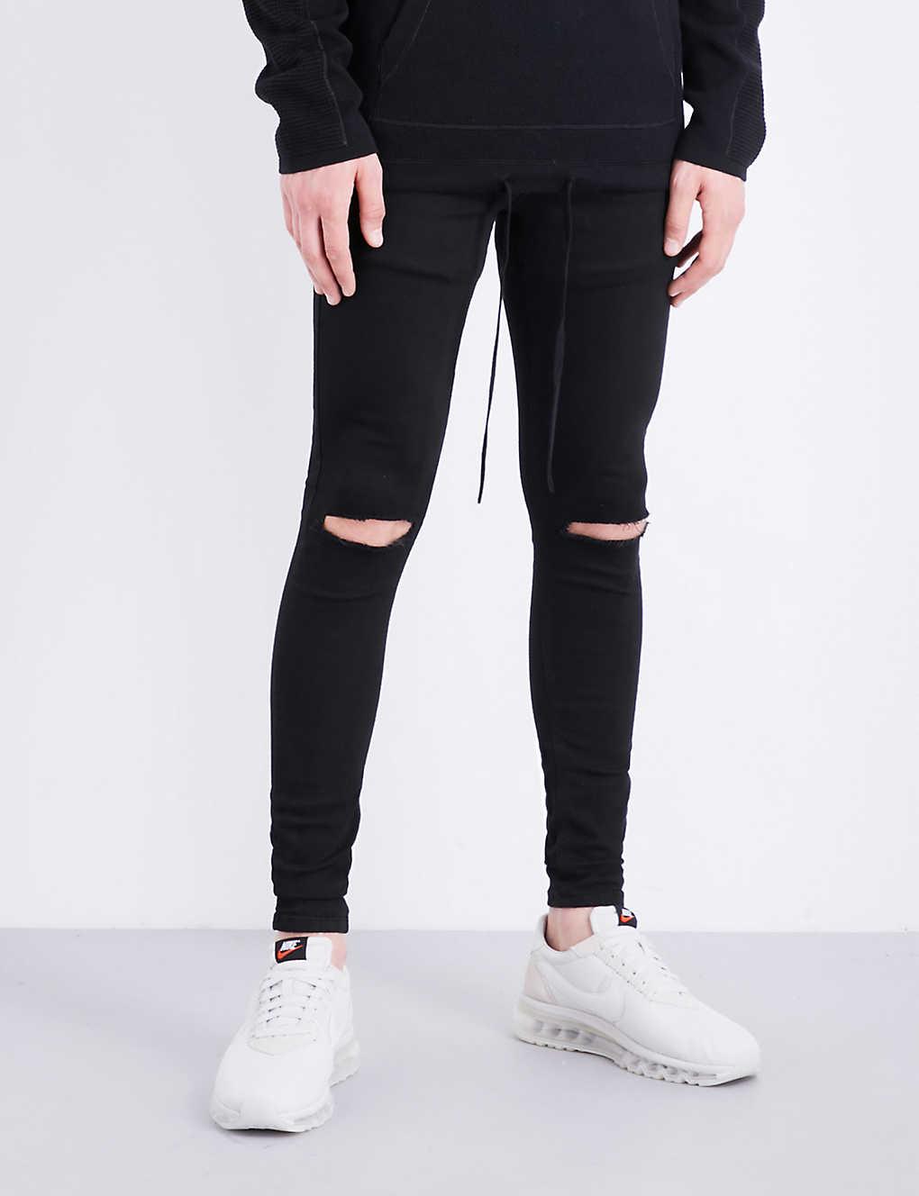 c7f571fef1f HERA - Ripped Knee spray-on skinny jeans