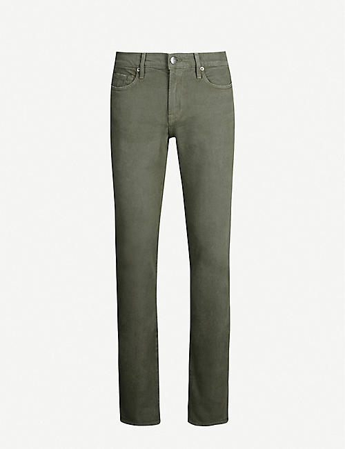 FRAME L'Homme faded slim-fit straight jeans