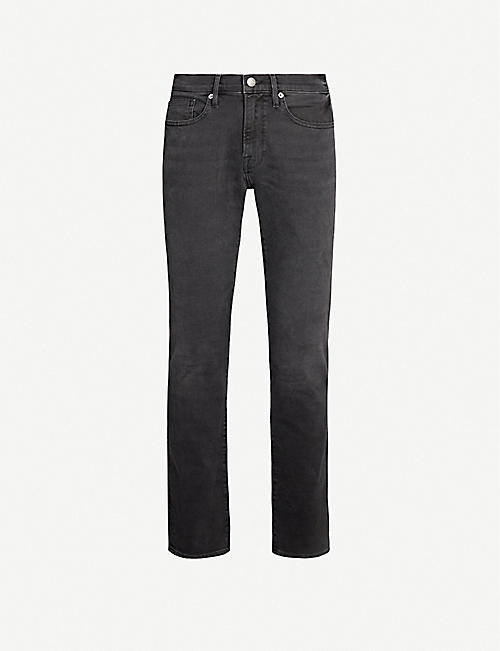 FRAME L'Homme faded slim-fit jeans
