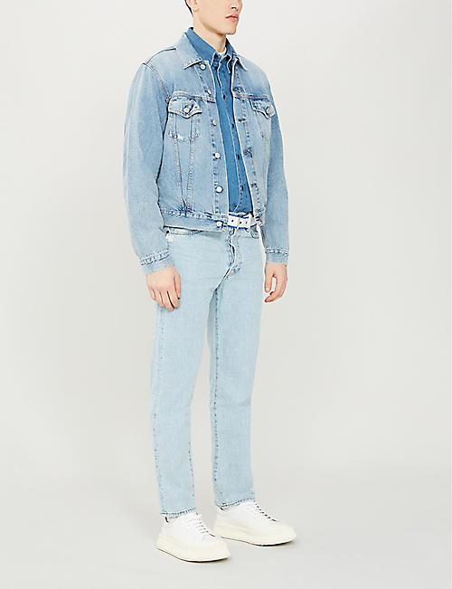 ACNE STUDIOS Faded slim-fit straight jeans