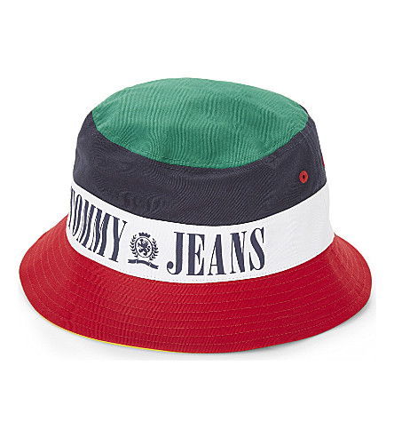 TOMMY JEANS -  90s cotton bucket hat  668859fbcfe