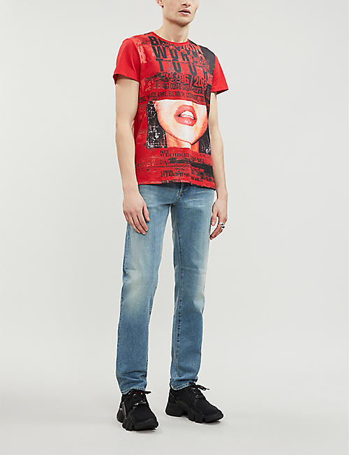 BALMAIN Graphic printed cotton-jersey T-shirt