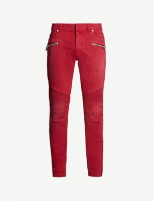 BALMAIN Faded slim-fit tapered jeans