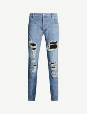 BALMAIN Super Destroy slim-fit skinny jeans