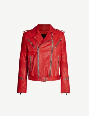 BALMAIN Asymmetric leather jacket