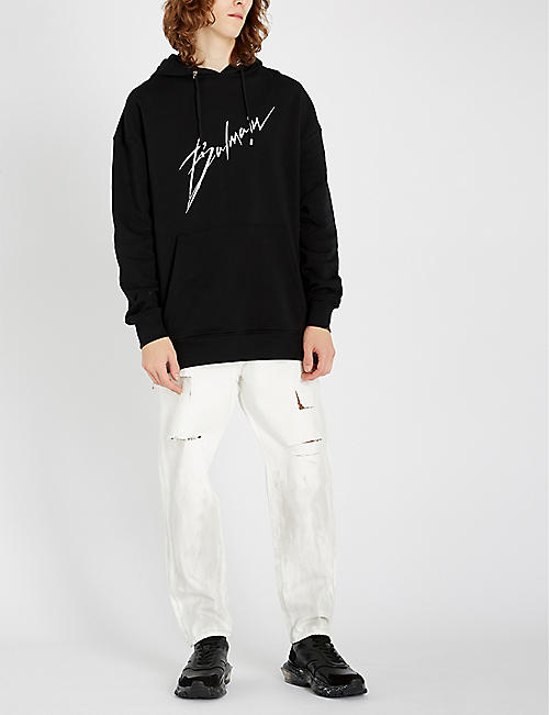 BALMAIN Dropped-crotch regular-fit straight jeans