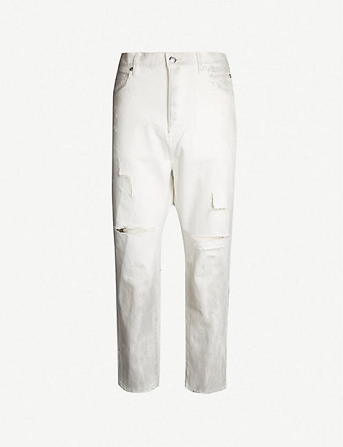 15d742cda2e7 BALMAIN Dropped-crotch regular-fit straight jeans
