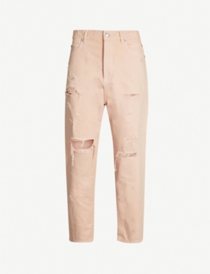 BALMAIN Ripped slim-fit straight jeans
