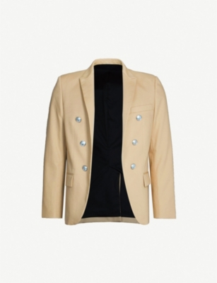 BALMAIN Button-embellished cotton blazer