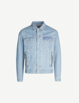 BALMAIN Logo-print denim jacket
