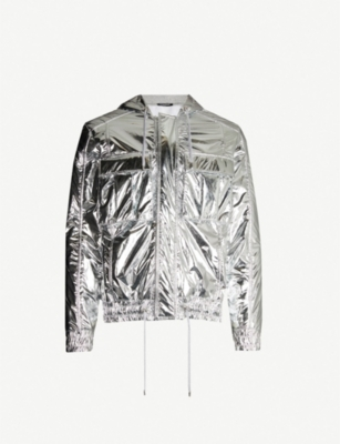BALMAIN Mirrored shell hooded jacket