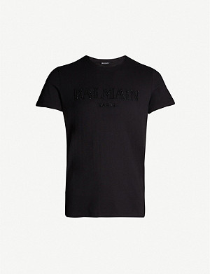 BALMAIN Logo-embellished cotton-jersey T-shirt