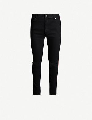 BALMAIN Destroyed slim jeans