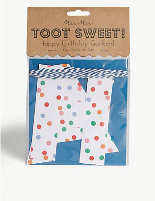 MERI MERI: Toot sweet dotty birthday garland 3m