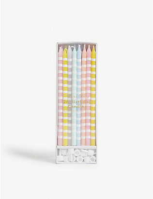 MERI MERI: Pastel party candles pack of 24