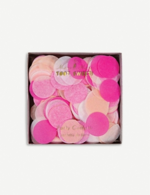 MERI MERI Toot Sweet pink party confetti