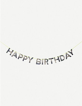 MERI MERI: Happy Birthday glittered garland 2.44m