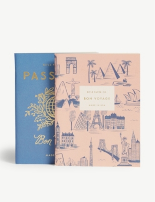 RIFLE PAPER Bon voyage pocket notebooks set of two