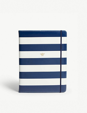 KATE SPADE NEW YORK Stripe print notepad folio