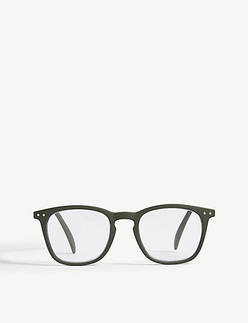 IZIPIZI: LetMeSee #E wayfarer reading glasses +2.00