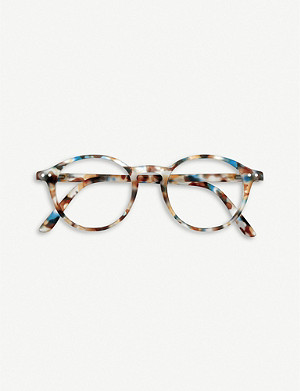 IZIPIZI #D tortoiseshell round-frame reading glasses
