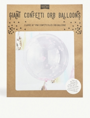 GINGER RAY Giant Confetti Orb Balloons pack of three